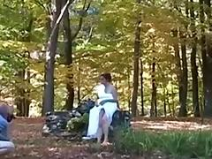 amateur milf candi annie in outdoor fuck session
