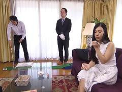 Slender Japanese girl will fuck any man that wants her pussy