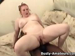 Busty amateur Fiona interracial fucking