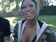 Huge white dick destroy one black vagina
