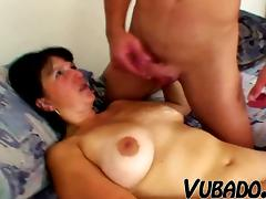 Young man fucks sexy and curvy MILF!