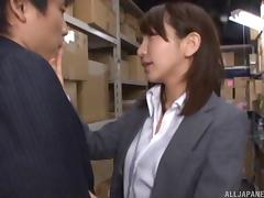 Fucking in the warehouse with a tight and sexy Japanese girl