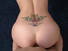 Teenie Farrah Flower Sucks and Fucks in POV