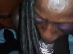 Motel sex with slim black island gal