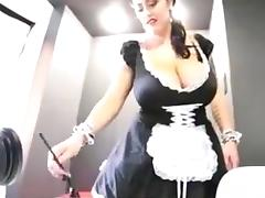 Leanne crow is a sexy busty maid