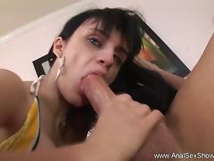 Exotic Brunette MILF Loves Anal Sex
