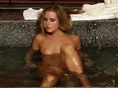 Soaked cunt of a Euro lesbian girl fisted erotically