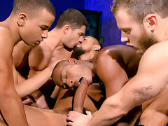 Into Darkness XXX Video: Shawn Wolfe, Dato Foland, Boomer Banks, Trelino, Tyson Tyler