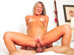 All, Blonde, Facial, Fucking, Granny, Horny