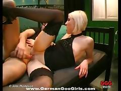 Slut, Blonde, Fucking, German, Hardcore, Nylon