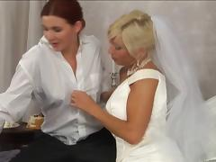 Good looking dame cheats with her brides maid in a bizarre lesbian act