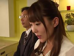 Slender Japanese sweetheart fucked hardcore in her hot box