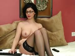 Bespectacled brunette CherryFlower