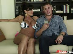 Bikini milf finds sexual relief with this sexy guy