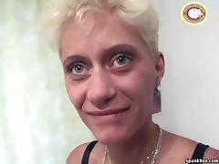 Old Lady, Cumshot, Dildo, Facial, German, Mature
