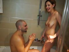 Ivana gets seduced in the shower and penetrated on the soft bed