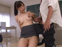 hot asian teacher seduces a student