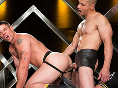 Derek Atlas & Juan Lopez in Erector Video