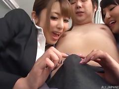 Dick sucking is the favorite activity of both of these sexy ladies