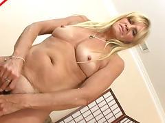 Big black dick dude fucks the mature mature blonde cock whore
