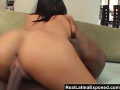 RealLatinaExposed  Jasmine Takes on a Massive Black Cock