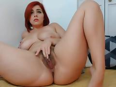 American, American, Dildo, Fingering, Hairy, Pussy