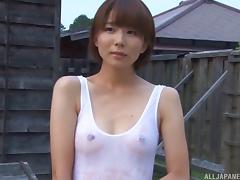 Wet T-shirt, Asian, Blowjob, Hardcore, Japanese, Outdoor
