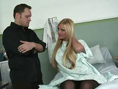 Hospital hardcore sex with a big tits blonde in stockings