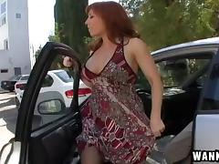 Vivacious stocking-clad cougar with big tits enjoying a hardcore fuck