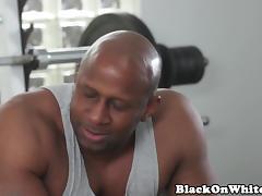 Pornstar Casey DPed in interracial trio