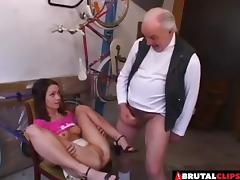 Mature cock is exactly what her sweet vagina was craving for!