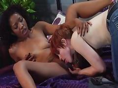 Horny pornstars Lotus Lain and Lily Cade in crazy blowjob, cunnilingus porn movie