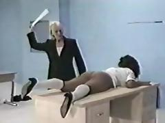 Ebony Spanked in the Classroom