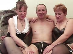 Two German Granny in Porn Casting with Stranger Grandpa