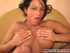 German amateur Milf with big tits gets fucked hard