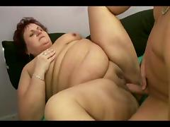 Exquisite mature BBW screaming in pleasure as the stiff cock throbs her twat