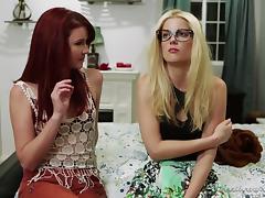 Lesbian Mature, Big Tits, Blonde, Glasses, Horny, Lesbian