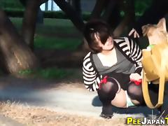 Watched asian pee panties