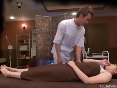 She knew that her Japanese twat will also get a sensual massage!