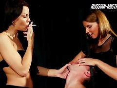 Eva and Megan are once again having a great femdom threesome