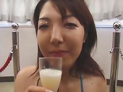 Massive Asian Bukkake with Swap and Swallow 4
