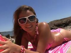 Bikini, Beach, Bikini, Blowjob, Couple, Cowgirl