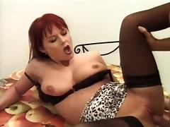 Busty Redhead Sucks And Fucks Some Cock