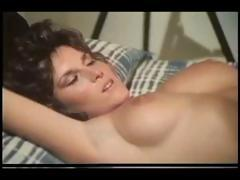 Two hot brunettes get nailed in a hardcore vintage foursome