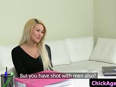 Czech amateur has ffm fun during sex audition