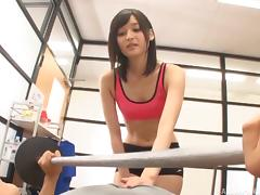Mizuho still loves it when someone penetrates her in the gym