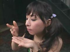 Yuka Osawa is a dirty dame who savors some sticky cum shots