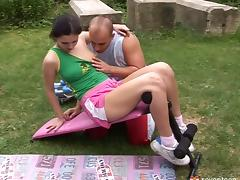Trainer shows the teen that fucking is the best way to get in shape