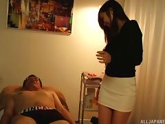 Beautiful sweetheart Yuna makes a pulsating shaft explode in her mouth