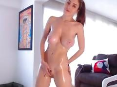 Sexy redhead webcam girl with big boobs 7